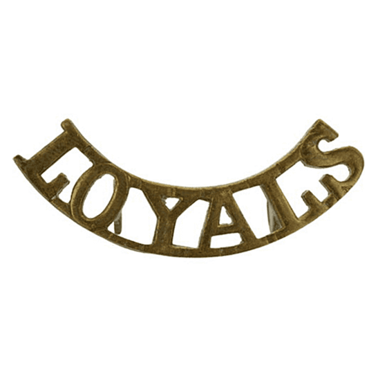 Loyal North Lancashire WW2 Loyal North Lancashire Regiment Shoulder Title