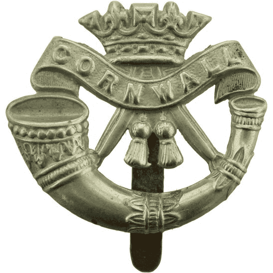 Duke of Cornwalls Light Infantry WW1 Duke of Cornwalls Light Infantry DCLI (Cornwall's) Regiment Cap Badge