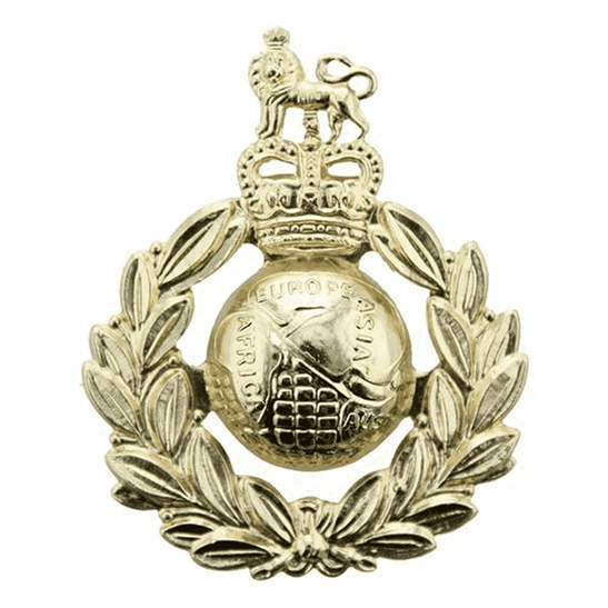 Royal Marines Royal Marines Corps Staybrite Anodised Cap Badge - Staybright