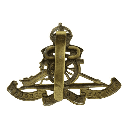 additional image for WW1 Royal Artillery Regiment Cap Badge STRENGTHENED SLIDER VERSION
