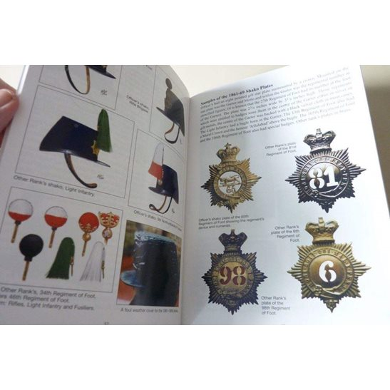 additional image for British Infantry Shako 1800-1897 Reference Book & Helmet Plate Badges Guide