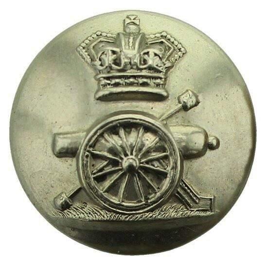 Royal Artillery VICTORIAN Royal Artillery Regiment Tunic Button QVC - 24mm
