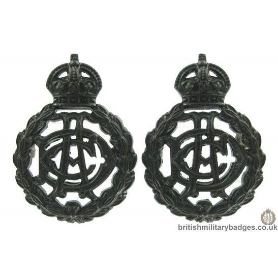 Army Dental Corps ADC OFFICERS Collar Badge PAIR