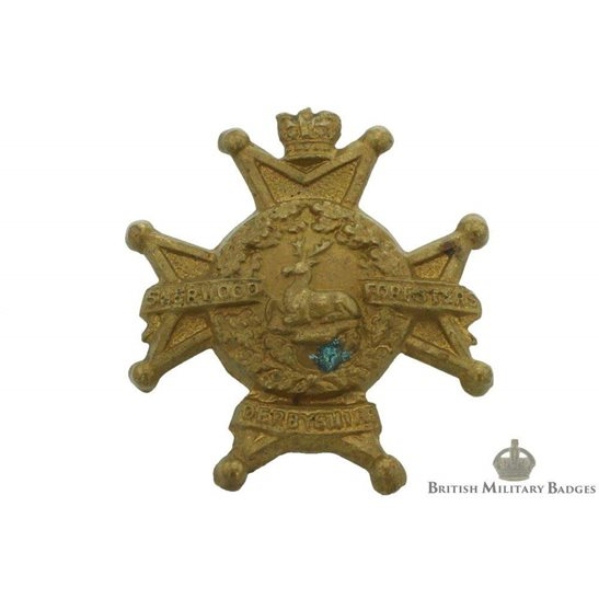VICTORIAN Sherwood Foresters (Notts & Derby) Regiment Collar Badge