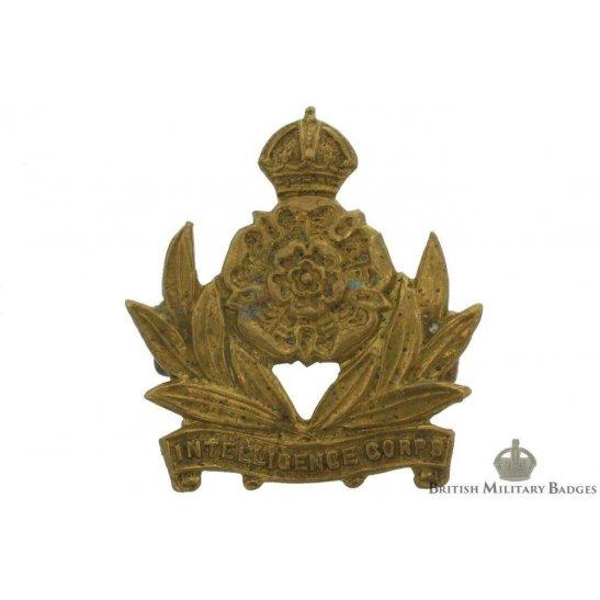 WW2 Intelligence Corps Collar Badge