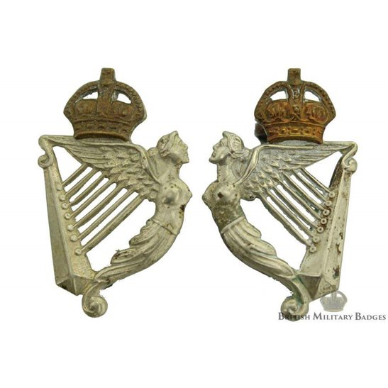 5th Royal Irish Lancers Regiment Collar Badge PAIR