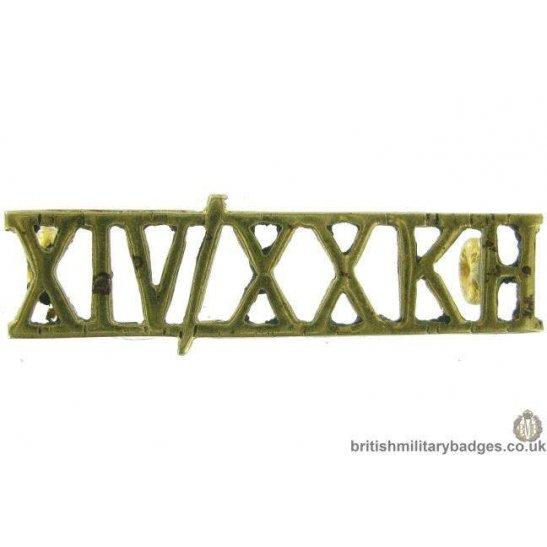 14th / 20th King's Hussars Regiment Kings Shoulder Title - XIV/XXKH