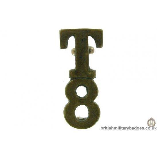 8th Territorial Battalion / Company T8 Shoulder Title - 28mm