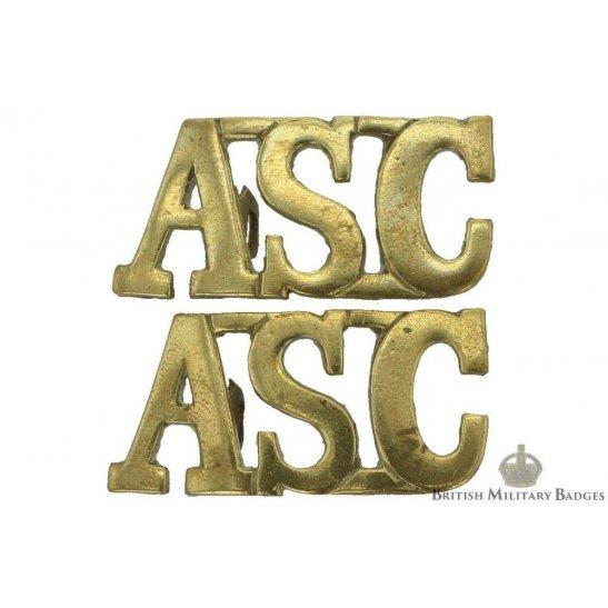 Army Service Corps ASC Shoulder Title PAIR