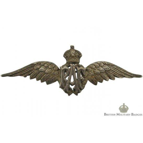 Royal Air Force RAF Wings Sweetheart Brooch - STERLING SILVER
