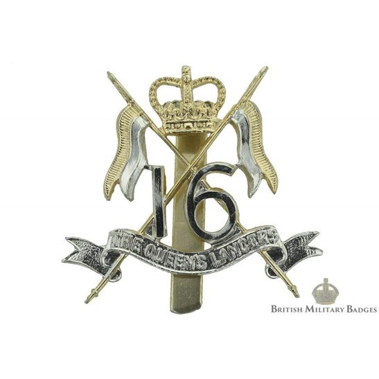 16th The Queen's Lancers Regiment Staybrite Cap Badge