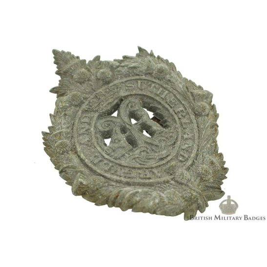 additional image for Argyll and Sutherland Highlanders Regiment PLASTIC Cap Badge