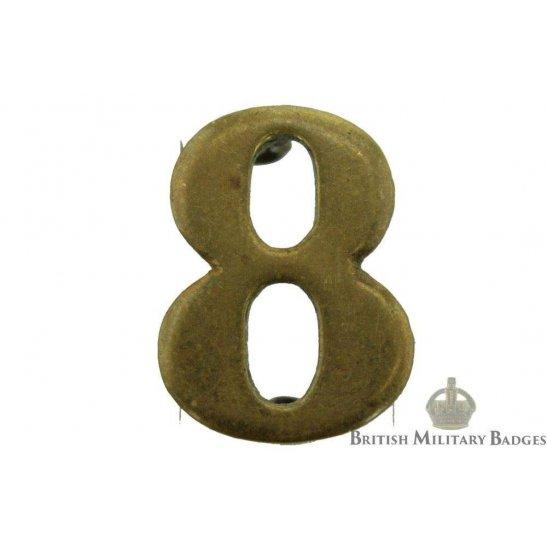 8th Territorial Battalion 8 Insignia Number Shoulder Title