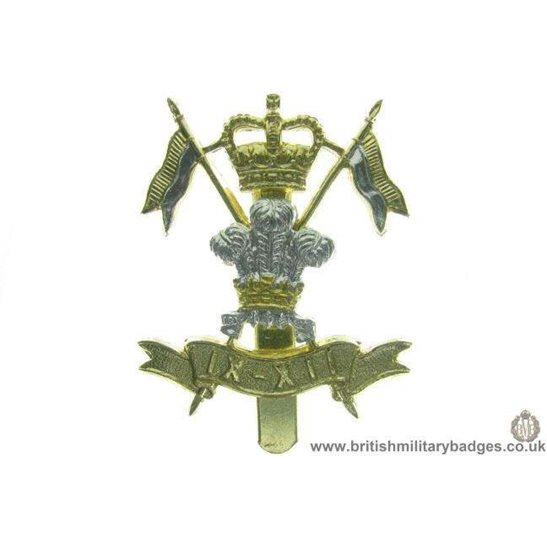 F1A/74 - 9th - 12th Lancers Regiment Staybrite Cap Badge