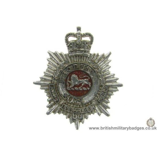 F1B/80 - Rhodesian Army Service Corps Staybrite Collar Badge