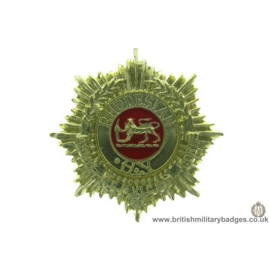 F1B/87 - Rhodesian Army Service Corps Staybrite Collar Badge