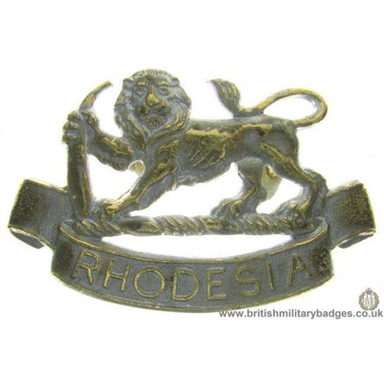 F1B/90 - Rhodesian Army Infantry Regiment Staybrite Cap Badge