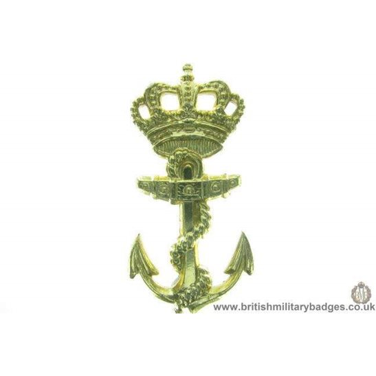 F1B/98 - Royal Dutch Navy / Netherlands Naval Staybrite Cap Badge