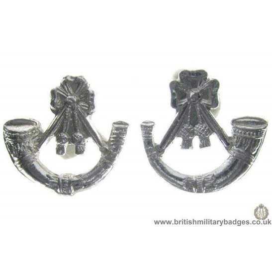 F1C/06 - Light Infantry Brigade Staybrite Collar Badge Pair