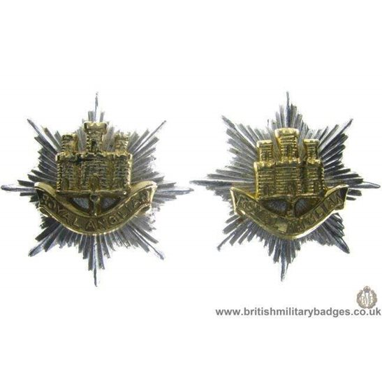 F1C/14 - Royal Anglican Regiment Staybrite Collar Badge Pair