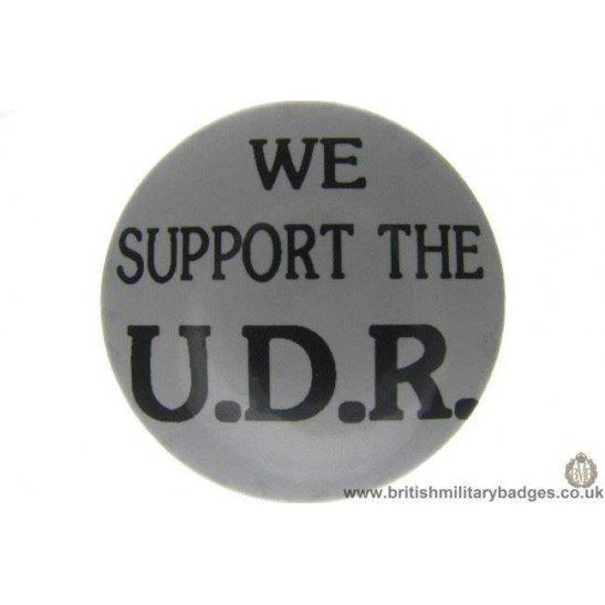 """J1A/51: """"We Support the UDR"""" Ulster Defence Regiment Lapel Badge"""