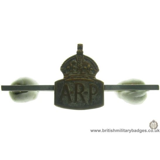J1A/60 - WW2 Air Raid Precaution ARP Brooch Lapel Badge