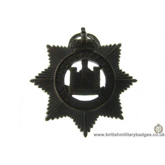 B1B/32 - The Devonshire Devon Regiment OFFICERS Collar Badge