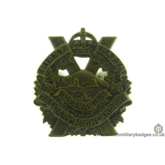 B1B/42  10th Battalion Canadian Calgary Highlanders Collar Badge