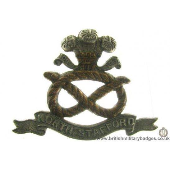 A1A/26 - North Stafford / Staffordshire Regiment Cap Badge