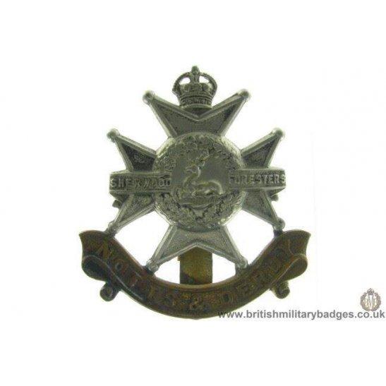 "A1A/66 - Sherwood Forresters ""Notts & Derby"" Regiment Cap Badge"