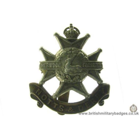 "A1A/88 - Sherwood Forresters ""Notts & Derby"" Regiment Cap Badge"