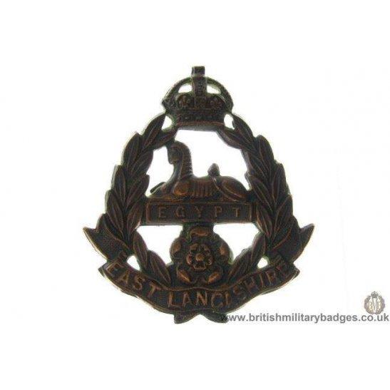 A1B/39 - East Lancashire Regiment OFFICERS Cap Badge
