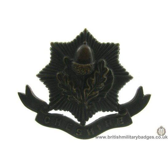 A1B/40 - The Cheshire Regiment OFFICERS Cap Badge