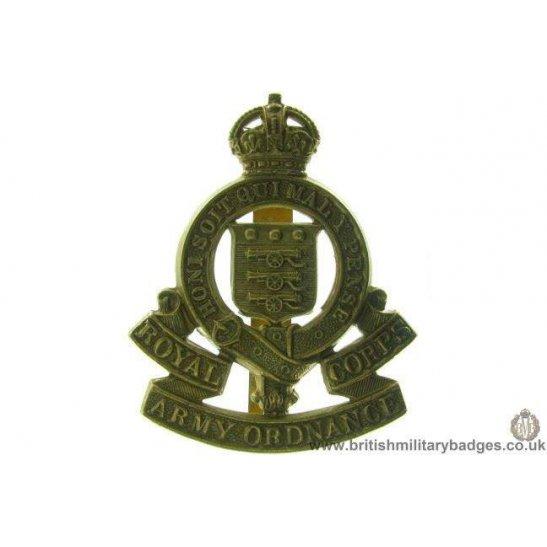A1B/64 - Royal Army Ordnance Corps RAOC Cap Badge