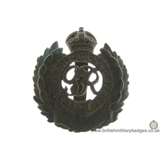 "A1B/68 - Royal Engineers Corps ""George VI"" Cap Badge"