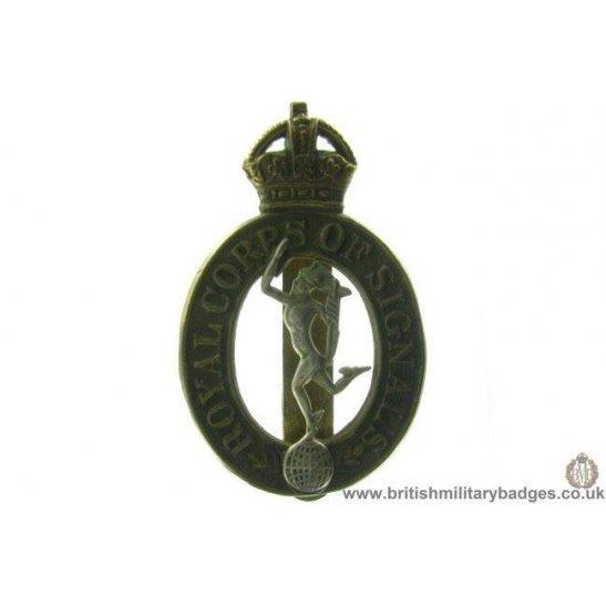 A1B/73 - Royal Corps of Signals RCOS Cap Badge