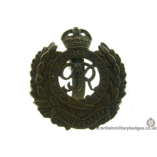 "A1B/91 - Royal Engineers Corps ""George VI"" Cap Badge"