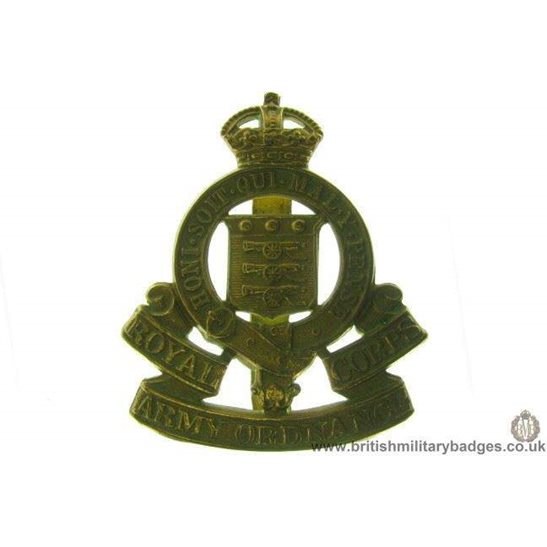 A1B/93 - Royal Army Ordnance Corps RAOC Cap Badge