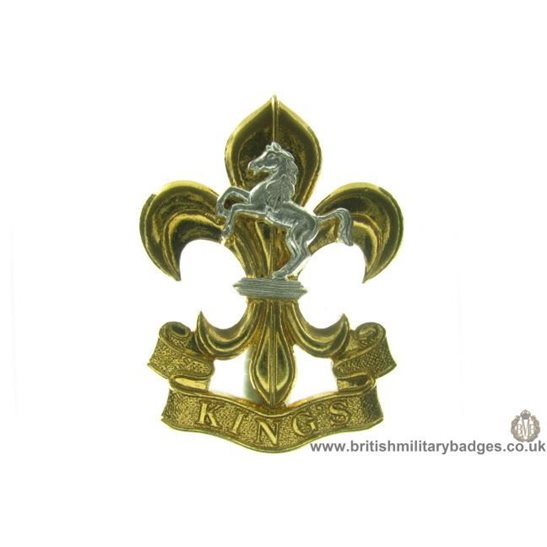 A1C/90 - The Kings (Manchester & Liverpool) Regiment Cap Badge