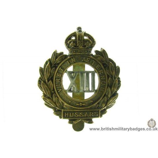 A1D/11 - 13th Hussars Regiment Cap Badge