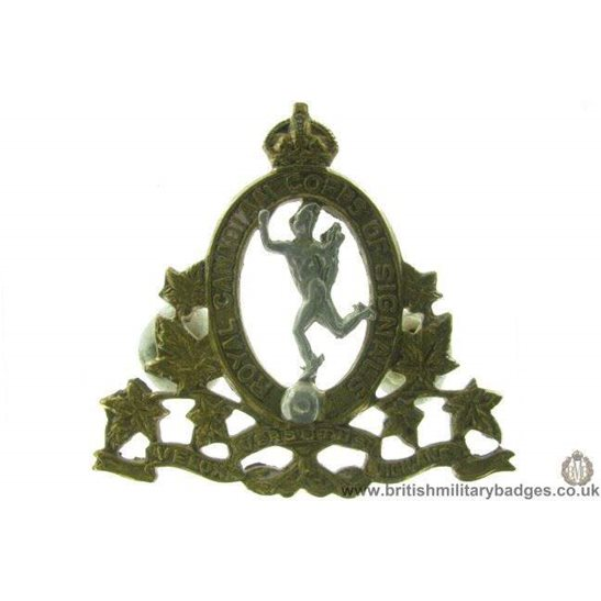 A1D/34 - Royal Canadian Corps of Signals RCCOS Cap Badge