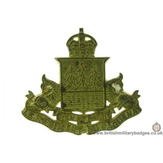 A1D/40 - Le Regiment Du Saguenay Canadian Cap Badge