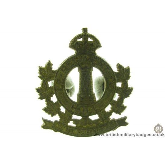 A1D/50 - Le Regiment De Hull Canadian Cap Badge