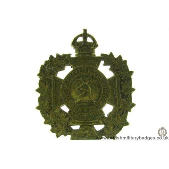 A1D/57 - Hastings & Prince Edward Regiment Canadian Cap Badge