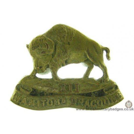 A1D/63 - 12th Manitoba Dragoons Regiment Canadian Cap Badge