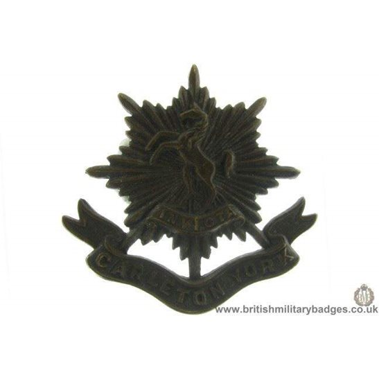 A1D/72 - The Carleton & York Regiment Canadian Cap Badge