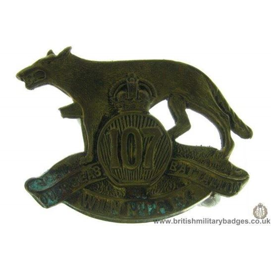 A1D/78 - 107th Overseas Battalion Winnipeg Canadian Cap Badge