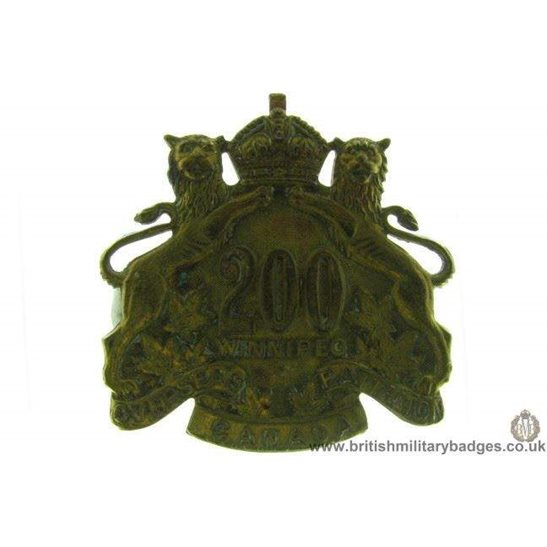 A1D/82 - 200th Battalion Winnipeg Overseas Canadian Cap Badge