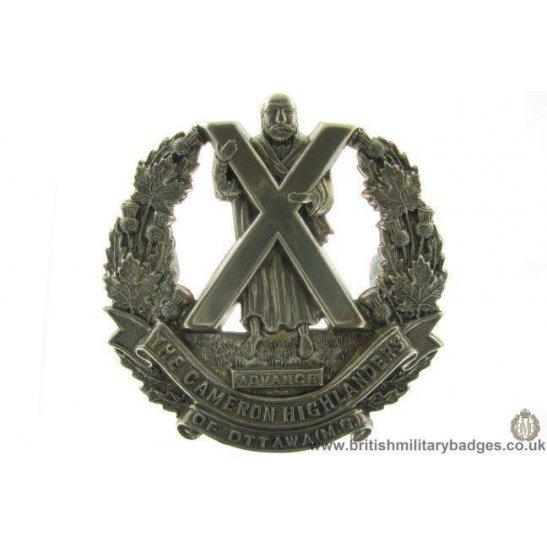 A1D/84 Cameron Highlanders of Ottawa Regiment Canadian Cap Badge
