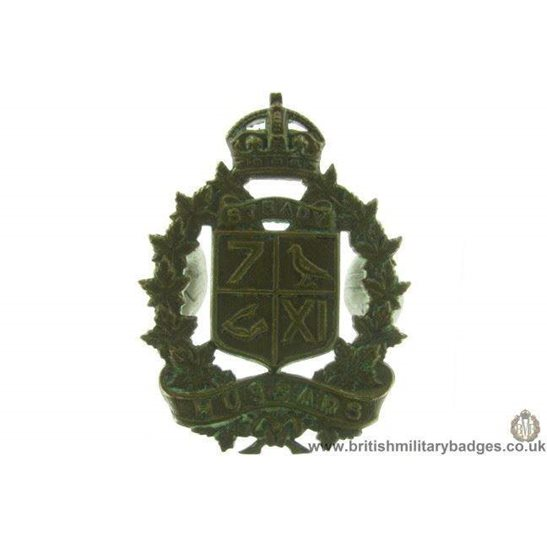 A1D/88 - 7th / 11th Hussars Regiment Canadian Cap Badge